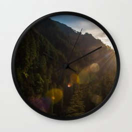 Valley Sunset - Oregon Wall Clock
