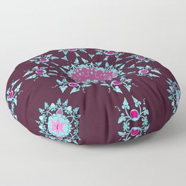 red berry pattern Floor Pillow