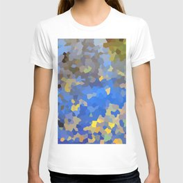 Gold dust on a mountain pond T-shirt