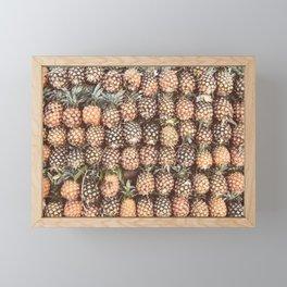 Pineapple Pattern Framed Mini Art Print