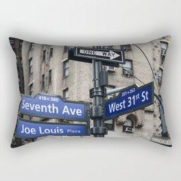 New York City Street Names Rectangular Pillow