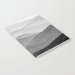 Mountain Mist - Black and White Collection Notebook