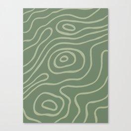 Topographic Map / Grayish Green Canvas Print