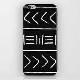 Black mudcloth - pillow version iPhone Skin