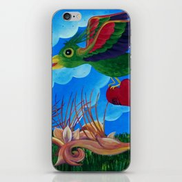Flight of the wounded heart iPhone Skin