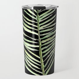 PALM ARECA - BLACK BACKGROUND Travel Mug