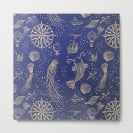 Ocean Meets Sky - Hard Case Design Metal Print