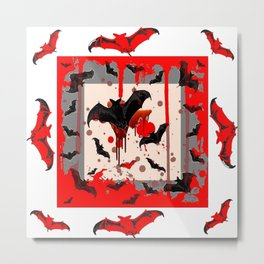 FREAKING HALLOWEEN BLOODY BAT PARTY Metal Print