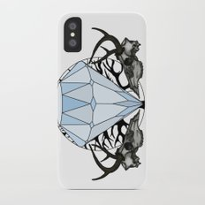 Diamond and skulls iPhone X Slim Case