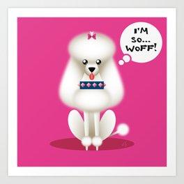 Chic Poodle Art Print