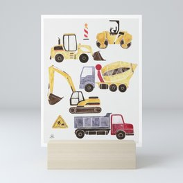 Construction Machines Mini Art Print
