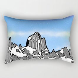 Monte Fitz Roy Rectangular Pillow