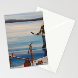 On Frozen Pond - Gord Donnie - Tragically Hip Stationery Cards