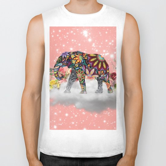 MANDALA ELEPHANT Biker Tank