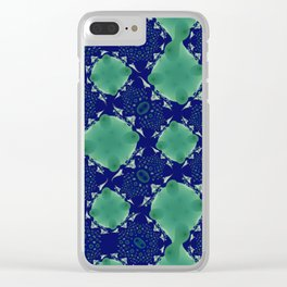 Fractal Pattern Clear iPhone Case