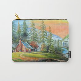 House at the mountain river Carry-All Pouch