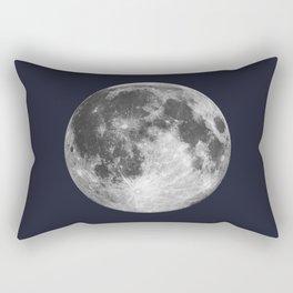 Full Moon on Navy Minimal Design Rectangular Pillow