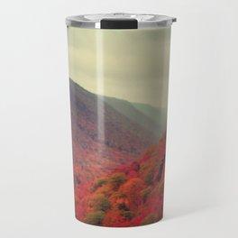 Landscape Photograph - Cape Breton Island, Red Decor Travel Mug