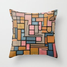 Piet Mondrian - Tableau III, composizione in ovale, 1914 Throw Pillow