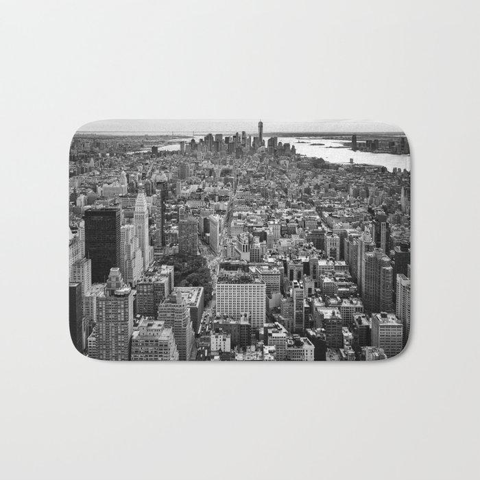 New York City black & white Bath Mat