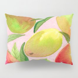 Mango Watercolor Painting Pillow Sham