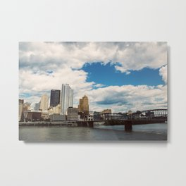 Hearts Over Pittsburgh Metal Print