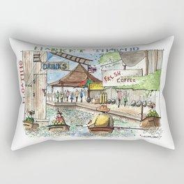 Thailand:  Floating Market Rectangular Pillow