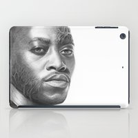 house md iPad Cases featuring Dr. Foreman-House MD-Omar Epps-Portrait by Olechka