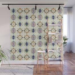Geometric Patterned Flowers Wall Mural