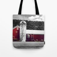 farm Tote Bags featuring farm by Alyssa Vielee