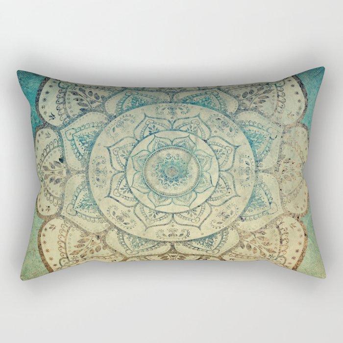 Faded Bohemian Mandala Rectangular Pillow