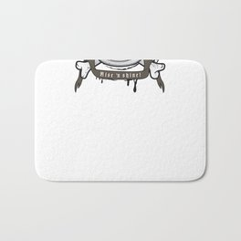 black coffee 'rise and shine' Bath Mat