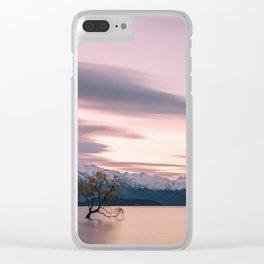 lone tree of lake Wanaka Clear iPhone Case