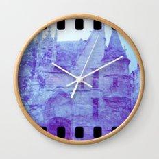 Chateau & Flowers Wall Clock