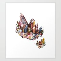 crystal Art Prints featuring Crystal by Kat Nova