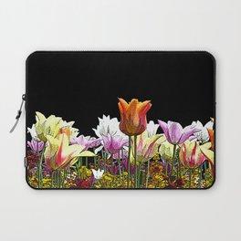 Tulips (black background) Laptop Sleeve
