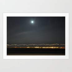 Traveling Lights Series No.9 Art Print