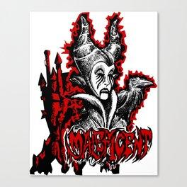 Black Metal Maleficent Canvas Print