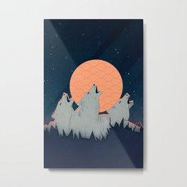 Howling Moon Metal Print