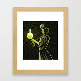 marie curie radioactive experiment Framed Art Print