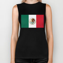 Flag of Mexico - alt version with seal insert Biker Tank