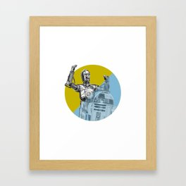 """R2D2 you know better than to trust a strange computer!"" Framed Art Print"