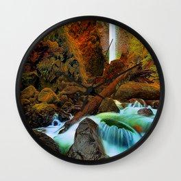 Plymouth Falls Wall Clock
