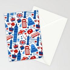 Fondo de patrón sin fisuras con hitos de Londres y símbolos de Gran Bretaña ilustración vectoria Stationery Cards