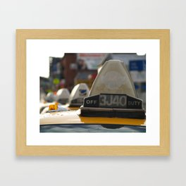 Brooklyn: Taxi Cab Framed Art Print
