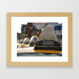Brooklyn: Taxi Cab Framed Art Print