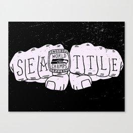 Seattle Seahawks Super Bowl World Champs - White design Canvas Print
