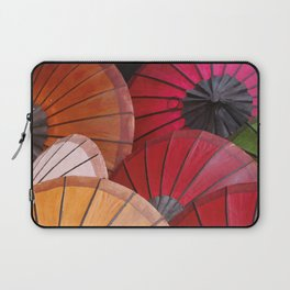 Paper Colored Umbrellas from Laos Laptop Sleeve