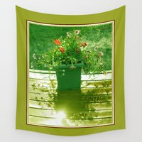 gem Wall Tapestries featuring Garden Gem by LEEMARIE
