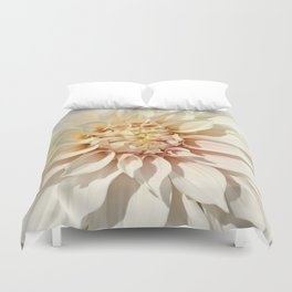Dahlia white macro 043 Duvet Cover
